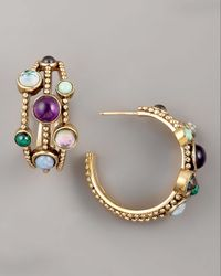 Stephen Dweck | Multicolor Triple-hoop Cabochon Earrings | Lyst