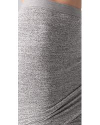 T By Alexander Wang - Gray Marled Ruched Skirt - Lyst