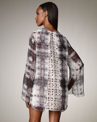 Theyskens' Theory - Gray Check Double-Layer Dress - Lyst