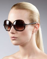 Tom Ford - Brown Knotted-temple Sunglasses - Lyst