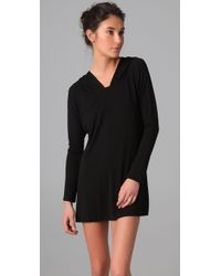 Tori Praver Swimwear | Black Hooded Cover Up | Lyst