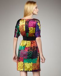 Trina Turk | Multicolor Fosse Shanghai Silk Dress | Lyst