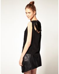 Very By Vero Moda - Black Vero Moda Very Fringe Back Top - Lyst