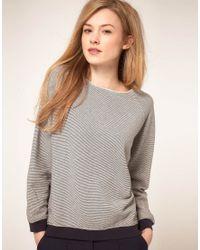 Whistles | Blue Olivia Sweatshirt Boxy Stripe | Lyst