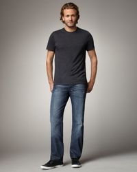 7 For All Mankind | Standard Dark Blue Jeans for Men | Lyst