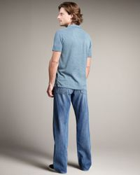 7 For All Mankind - Blue Straight Leg Jeans for Men - Lyst