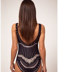 Emma Cook | Black One Piece Swim Suit With Shell Placement Print | Lyst