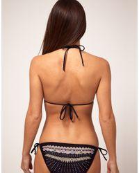 Emma Cook - Black Shell String Bikini - Lyst