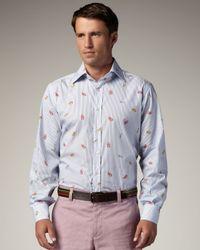 Etro | Blue Lobster Shirt for Men | Lyst