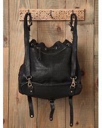 Free People | Black Alex Convertible Backpack Tote | Lyst