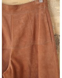 Free People | Brown Vintage Suede Skort | Lyst