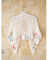 Free People | Natural Vintage Crochet Shawl | Lyst