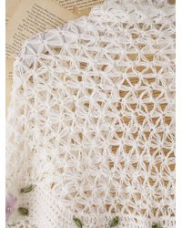 Free People - Natural Vintage Crochet Shawl - Lyst