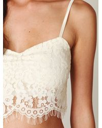 Free People | White Lace Crop Bralette | Lyst