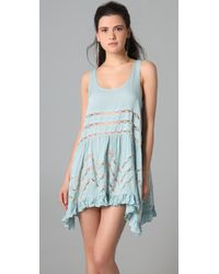 Free People | Blue Trapeze Slip Dress | Lyst
