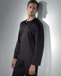 Hanro | Blue Plaza Henley Pajamas for Men | Lyst
