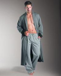 Hanro | Gray Noble Woven Robe for Men | Lyst
