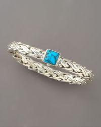 John Hardy - Blue Classic Chain Turquoise Bracelet - Lyst