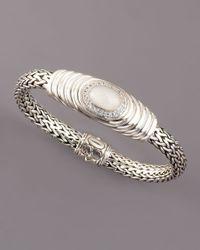 John Hardy - White Bedeg Milky Quartz Chain Bracelet - Lyst