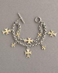 Konstantino | Metallic Multi-cross Charm Bracelet | Lyst