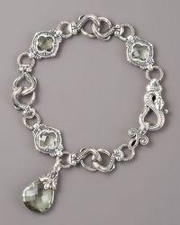 Konstantino - Metallic Prasiolite Snake Bracelet - Lyst