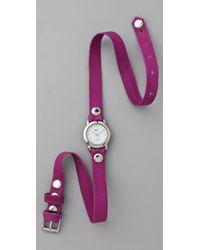La Mer Collections | Purple Neon Simple Wrap Watch | Lyst