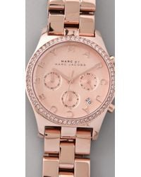 Marc By Marc Jacobs | Metallic Henry Glitz Chronograph Watch | Lyst