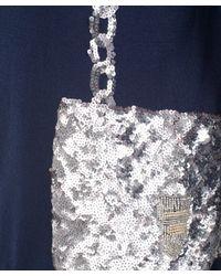 Markus Lupfer - Blue Navy and Silver Sequin Bag Motif Jumper - Lyst