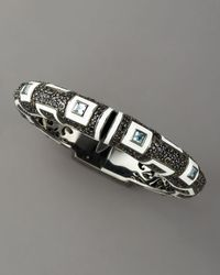 M.c.l  Matthew Campbell Laurenza - Black Topaz & Spinel Art Deco Bracelet - Lyst