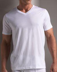 Neiman Marcus | White V-neck Tee, Set Of Three for Men | Lyst