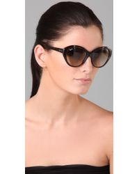 Ray-Ban - Brown Large Cat Eye Sunglasses - Lyst
