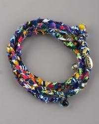 Same Sky - Beaded Woven Wrap Bracelet, Multicolor - Lyst
