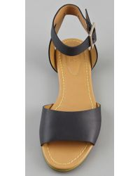 See By Chloé | Blue Broad Band Flat Sandals | Lyst