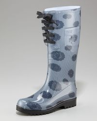 See By Chloé - Blue Lace-up Rain Boot - Lyst