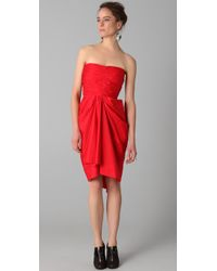 Thakoon | Gathered Strapless Dress | Lyst