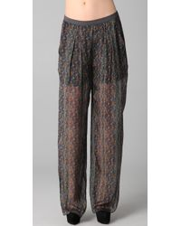 Theyskens' Theory | Multicolor Poug Icket Small Pants | Lyst