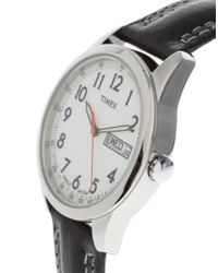 Timex | Timex Originals Black Leather Strap Watch | Lyst