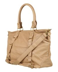 TOPSHOP | Natural Slouchy Buckle Shopper Bag | Lyst