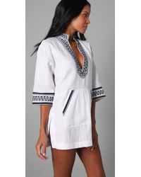 Tory Burch - White Gauze Tunic - Lyst