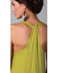 BCBGMAXAZRIA - Green Sara Back Knot Tank Dress - Lyst