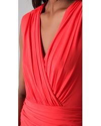BCBGMAXAZRIA | Red Lou V Neck Cocktail Dress | Lyst