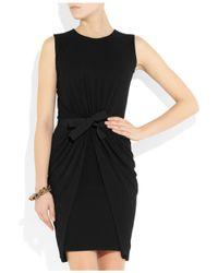 Giambattista Valli - Black Bow-Embellished Knitted Dress - Lyst