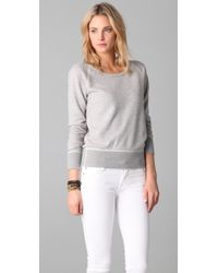 James Perse | Gray Old School Raglan Top | Lyst