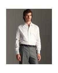 John Varvatos | White Bib Front French Cuff Tuxedo Shirt for Men | Lyst
