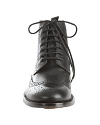 Kenneth Cole - Black Leather Quick Think Lace Up Wingtip Ankle Boots for Men - Lyst