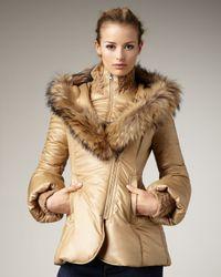 Mackage | Natural Peaches Short Fur-trim Puffed Coat | Lyst