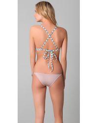 Made By Dawn - Pink Coco Bikini Top - Lyst