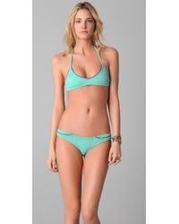 Made By Dawn | Green Shell Picker Bikini Top | Lyst