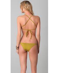 Made By Dawn - Green Sea Shell Bikini Top - Lyst