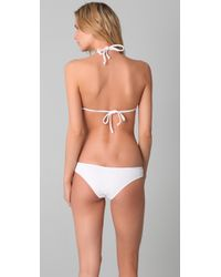 Made By Dawn | White Shell Picker Bikini Top | Lyst